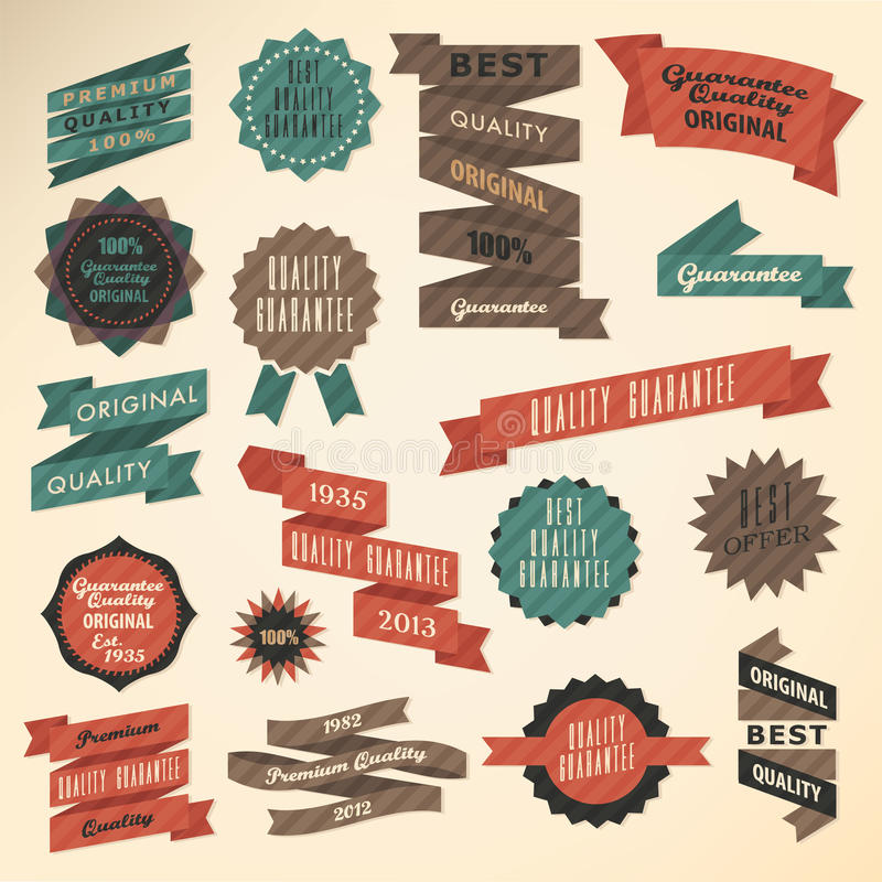 Retro label collection vector illustration