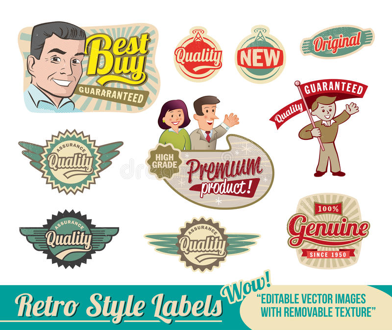 Download Retro Label Set Stock Images - Image: 24882104