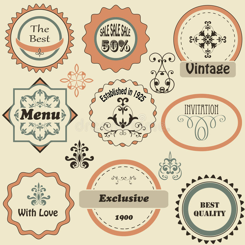 Retro Labels vector illustration