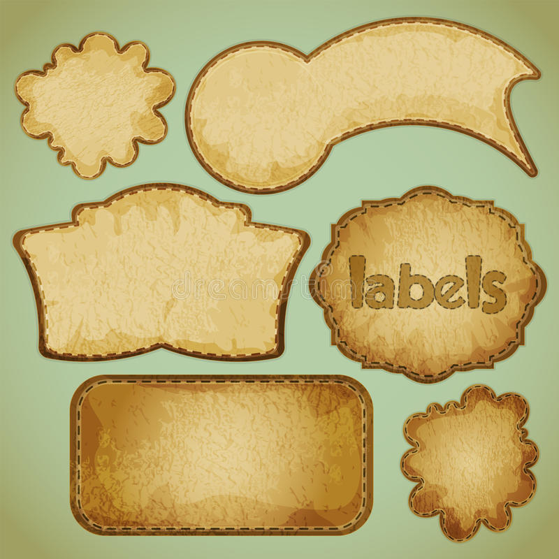 Retro labels set stock illustration