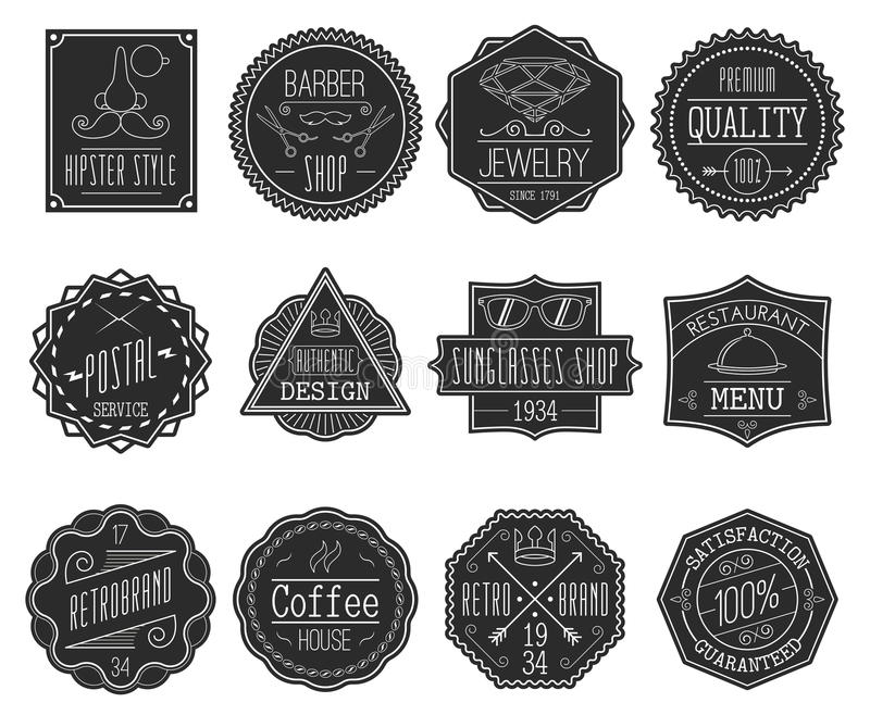 Retro Labels Set vector illustration