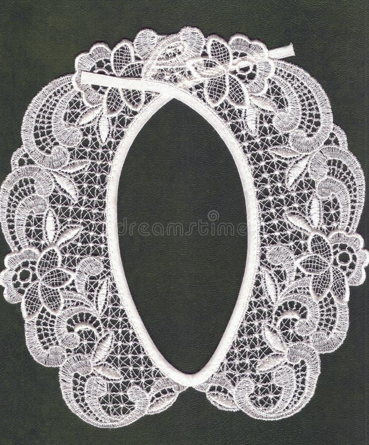 Retro lace collar. royalty free stock photos