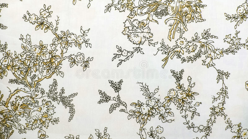 Retro Lace Floral Seamless Pattern Brown Fabric Background Vintage Style royalty free stock photography