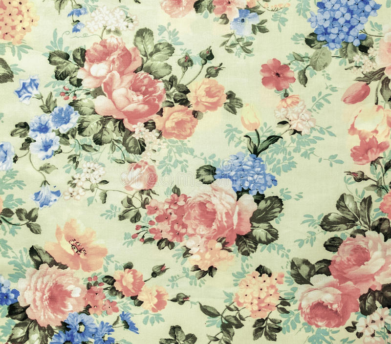 Retro Lace Floral Seamless Pattern White Fabric Background Vintage Style stock photo