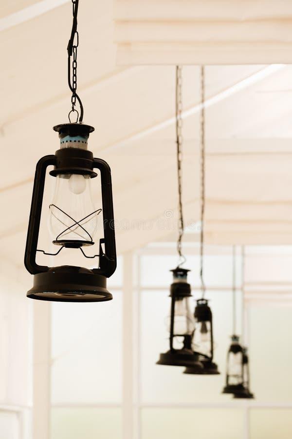Retro lampada elettrica immagine stock