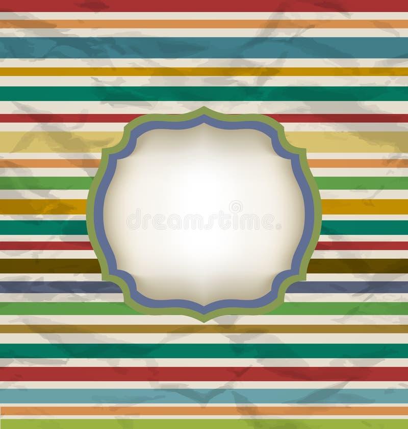 Retro lampasa wzór, kolorowy rocznika tło ilustracji