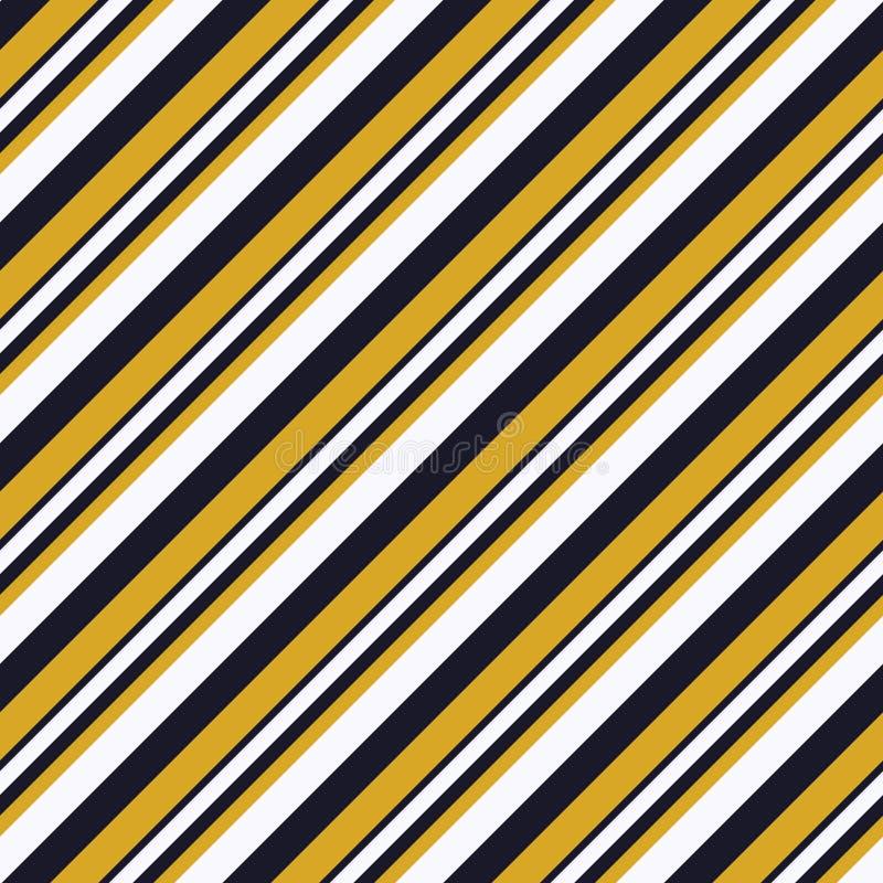 Retro lampasa wzór z marynarki wojennej błękita, bielu i pomarańcze diagonalnym równoległym lampasem, Wektoru wzoru lampasa abstr ilustracja wektor