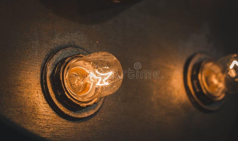 Retro lampor arkivfoton