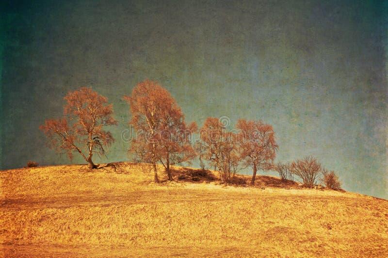 Retro- Landschaft stockbild