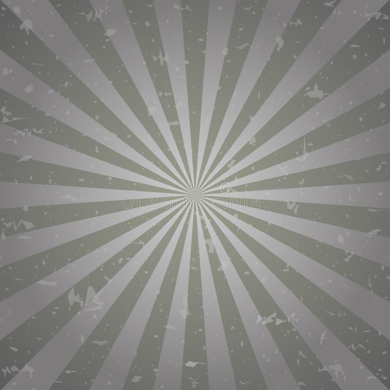 Retro langzaam verdwenen grunge achtergrond de donkere grijze achtergrond van de kleurenuitbarsting Vector illustratie royalty-vrije illustratie