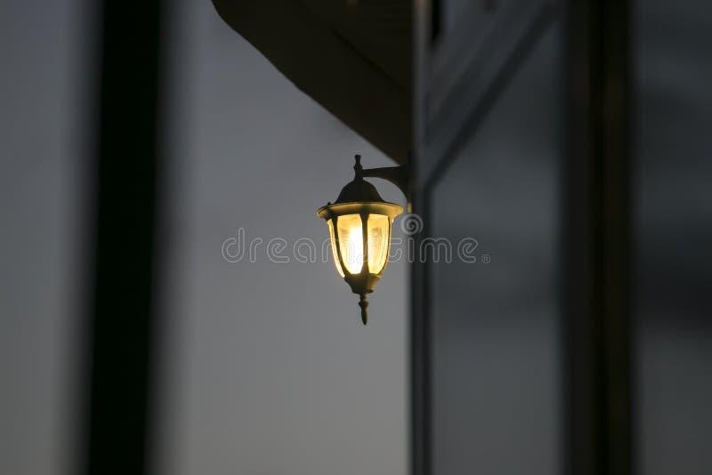 Retro lantern on the street stock photography