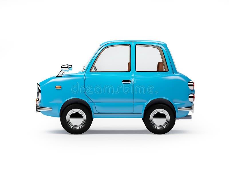 Retro lato 1960 del fumetto dell'automobile illustrazione di stock