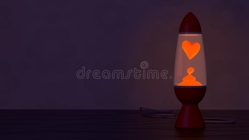 Download Retro Lava Lamp With Heart Shaped Lava Blob Stock Illustration - Image: 18071167