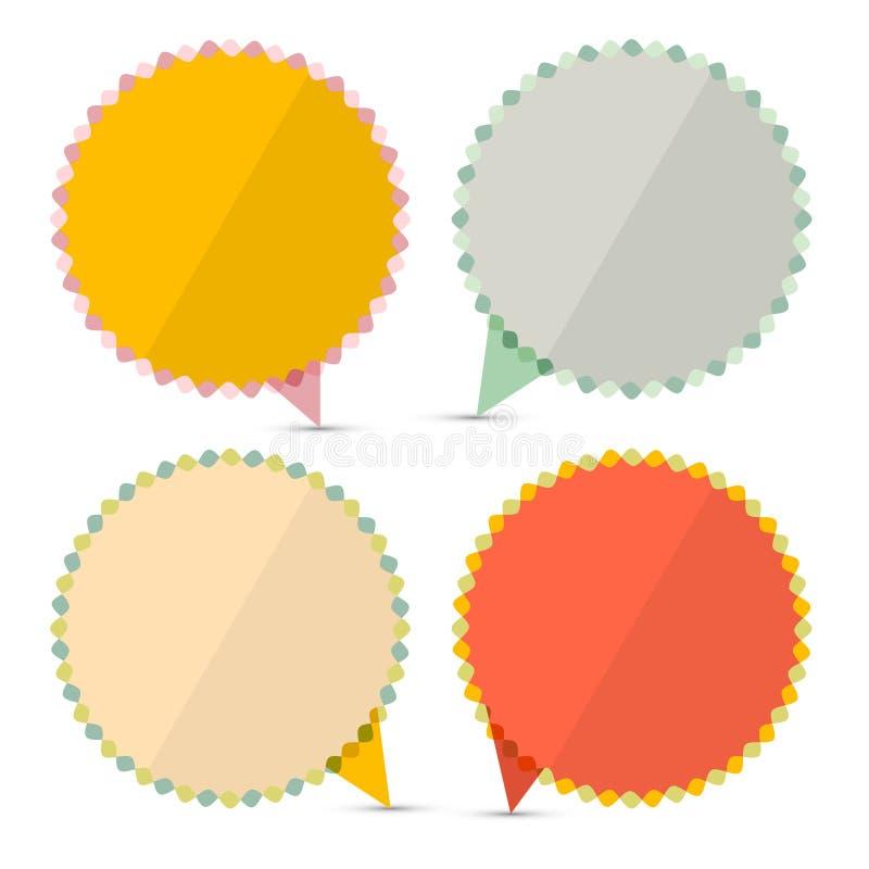 Retro Lege Stickers - Geplaatste Etiketten royalty-vrije illustratie