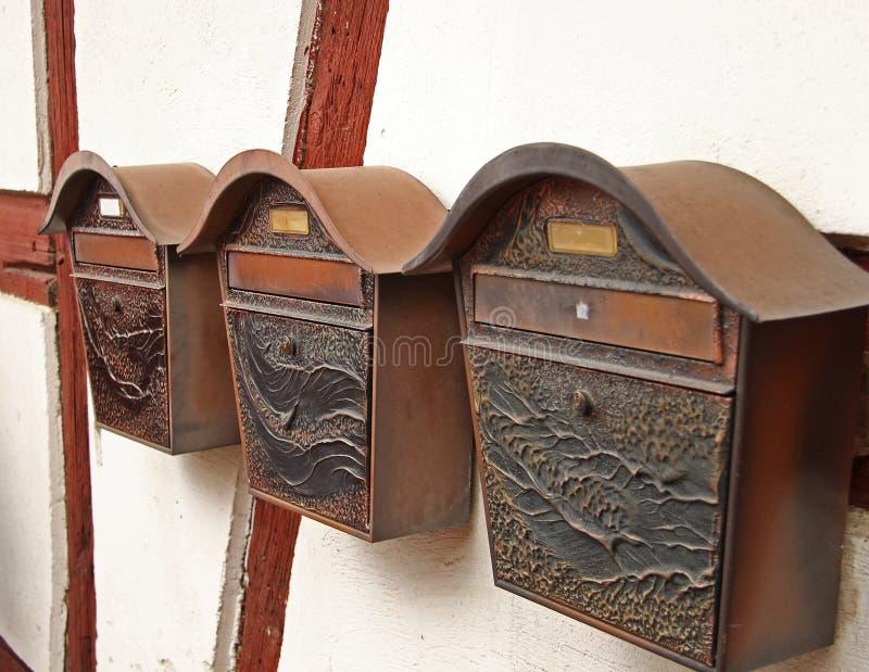 Retro Letterboxes Stock Photos