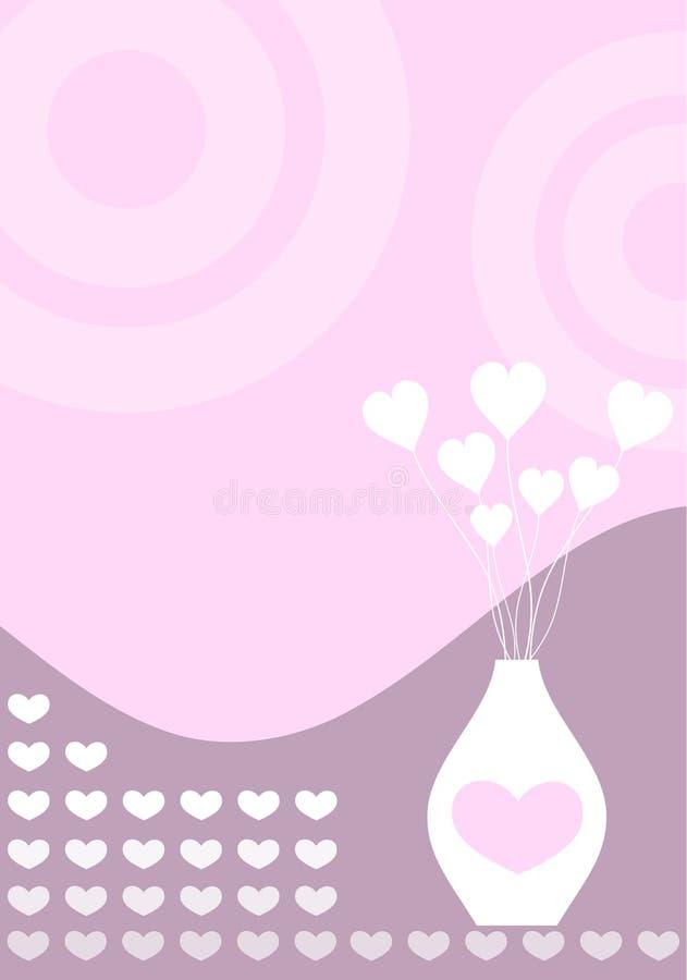 Retro liefde royalty-vrije illustratie