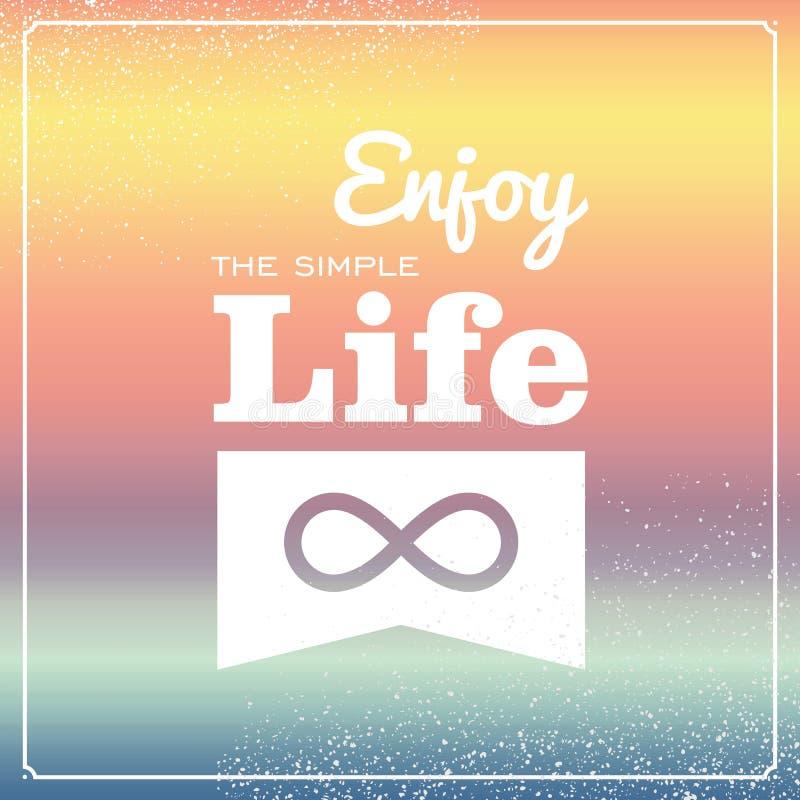 Retro Life Style Poster Stock Photo