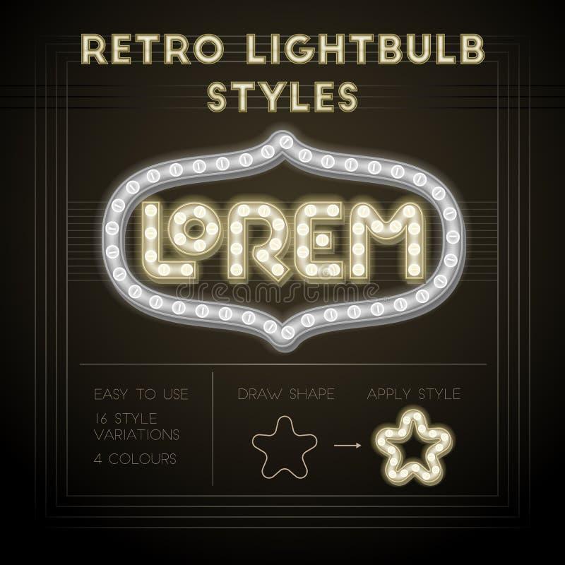 Retro lightbulb style ilustracja wektor
