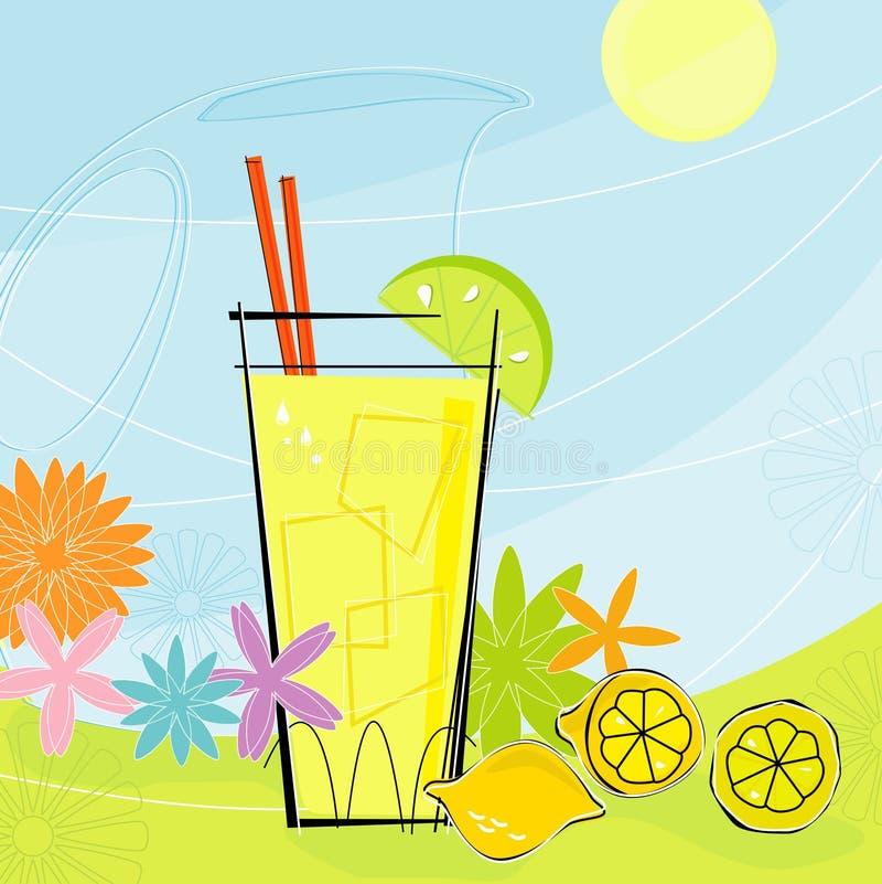 Retro Limonade van de Zomer (Vector) royalty-vrije illustratie