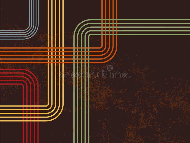 Retro- Linien 70s 80s lizenzfreie abbildung