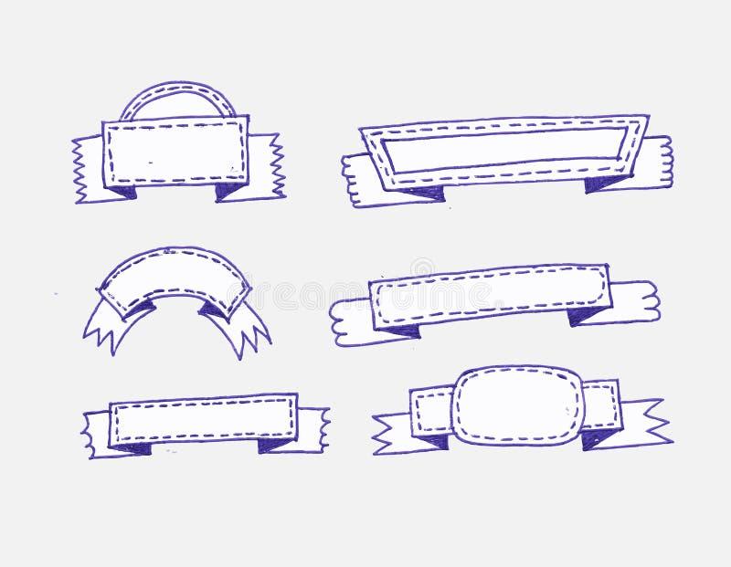 Retro linten en etikettenillustratie vector illustratie