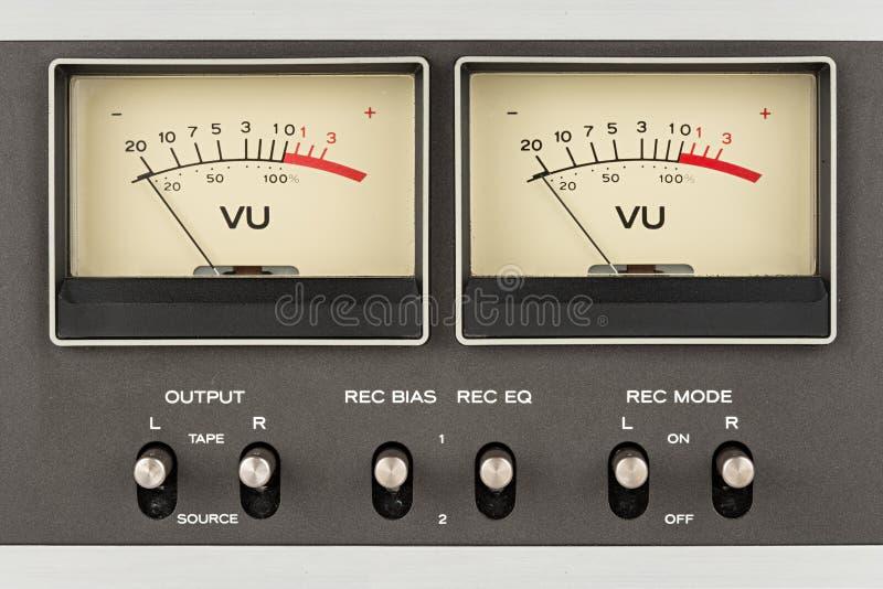 Retro ljudsignalskärmar arkivfoto