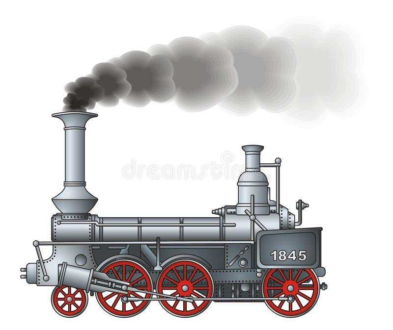 Retro locomotiva illustrazione vettoriale