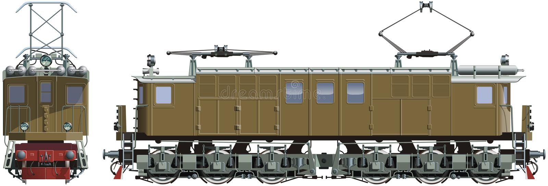 Retro locomotiva del treno fotografia stock