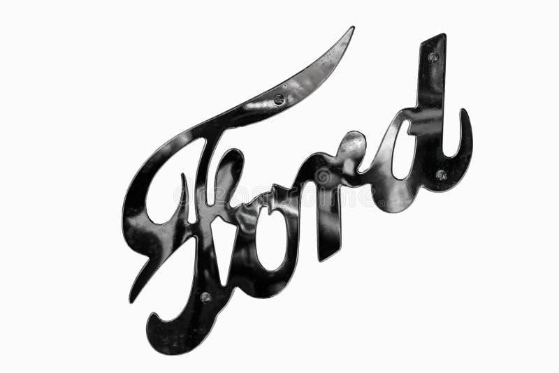 Retro logo dell'automobile di Ford fotografia stock