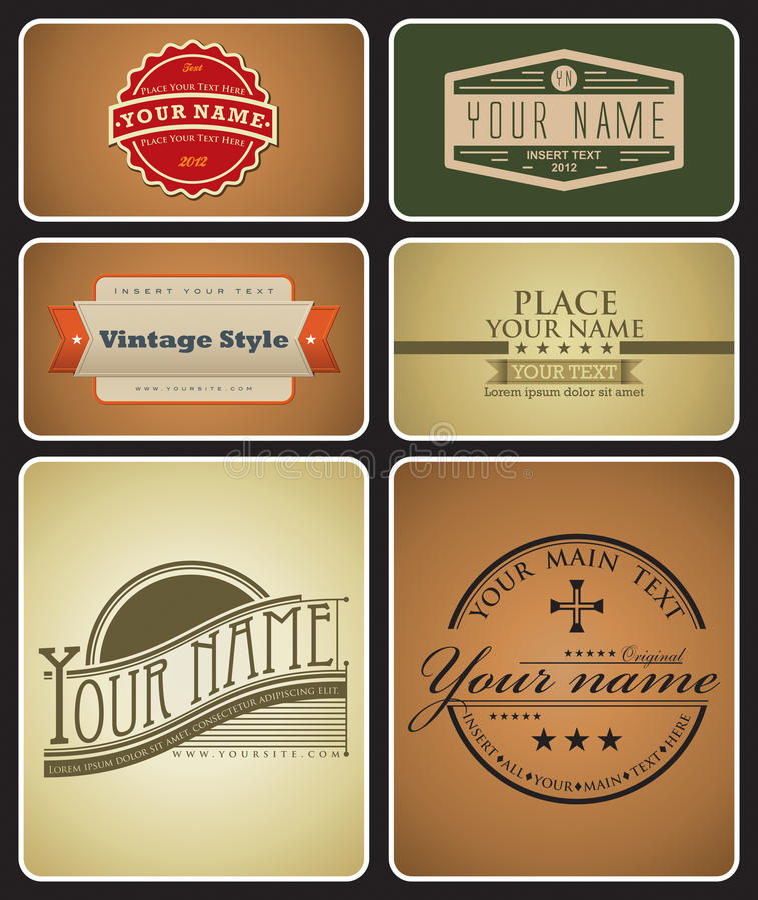 Download Retro Logos stock vector. Image of icon, element, form - 22640830