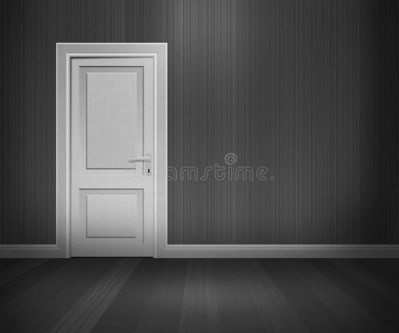retro lokalwhite för svart dörr royaltyfri illustrationer