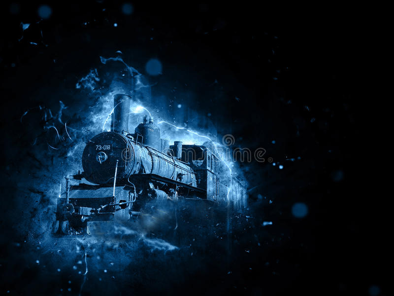 Retro- Lokomotive stockbild