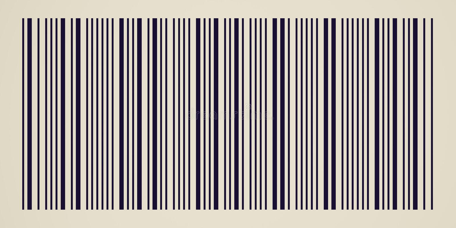 Retro look Barcode stock illustration