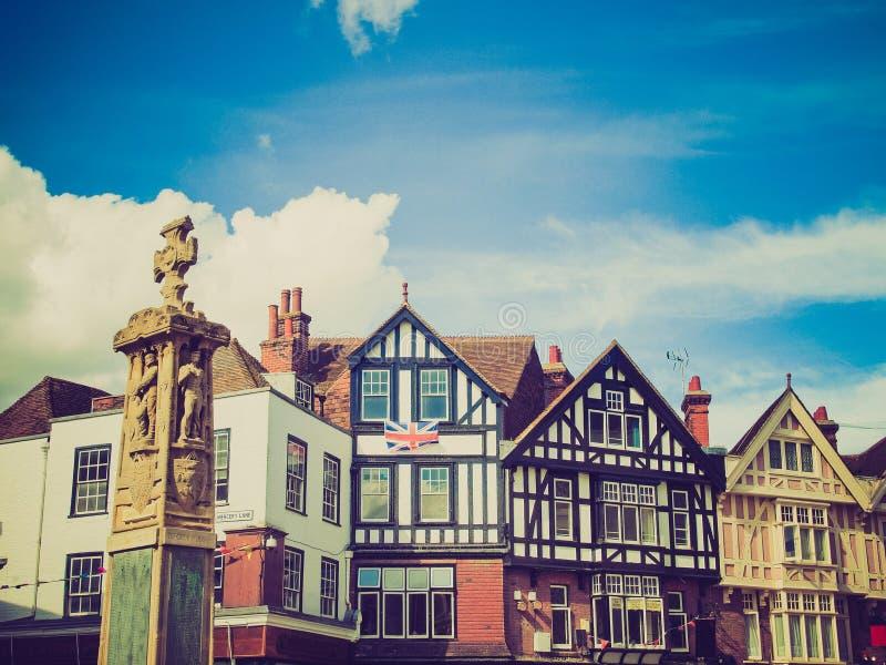 Download Retro Look City Of Canterbury Stock Photo - Image: 40763022