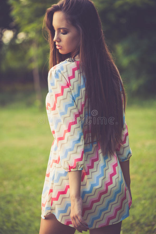 Retro look fashion royalty free stock images