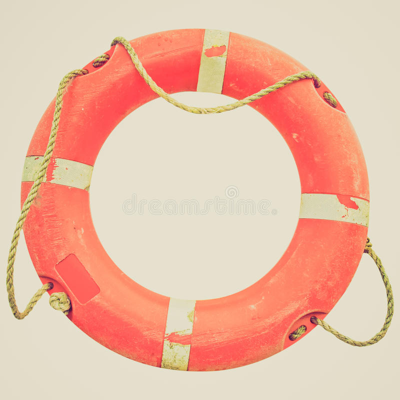 Retro look Lifebuoy royalty free stock image