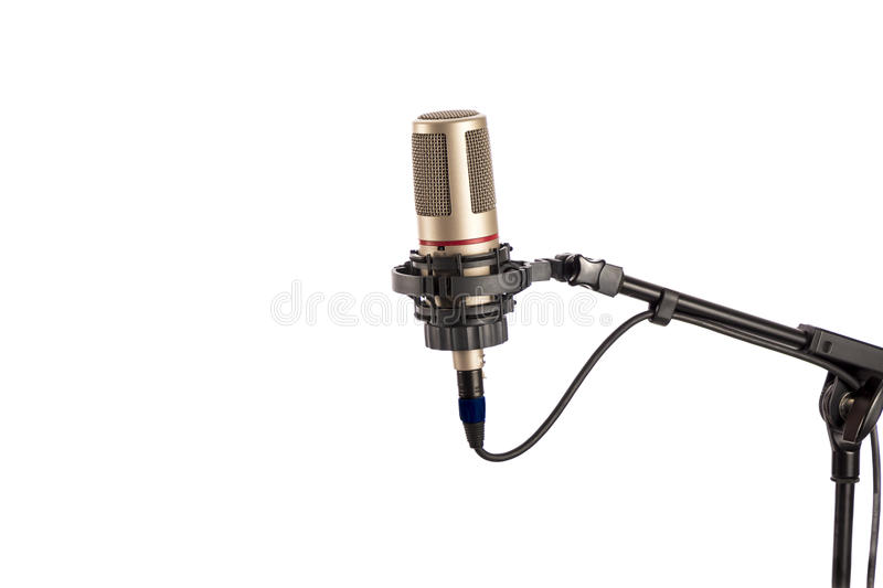 Retro looking microphone royalty free stock image