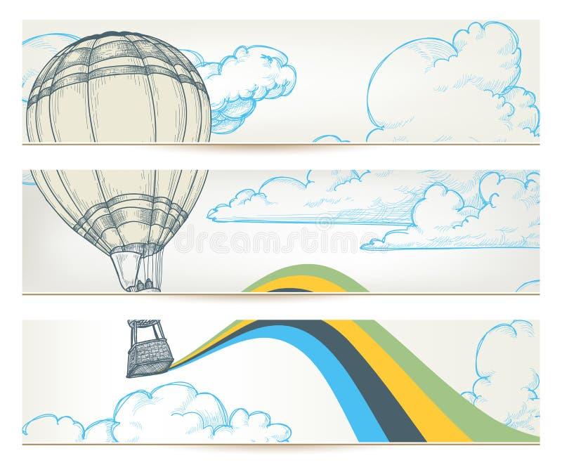 retro lopp för baner vektor illustrationer