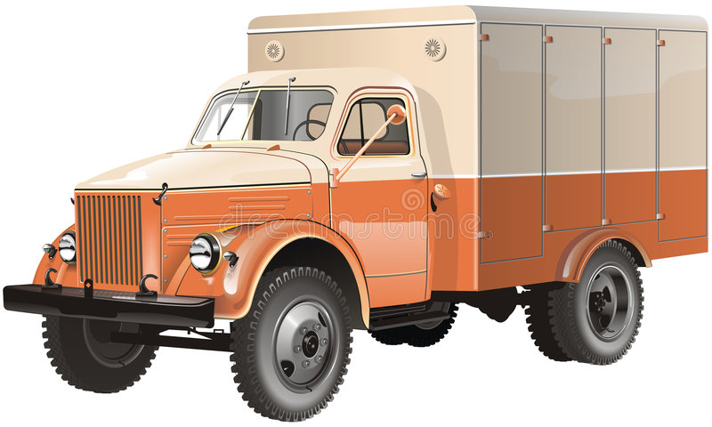 Retro Lorry Isolated Stock Images