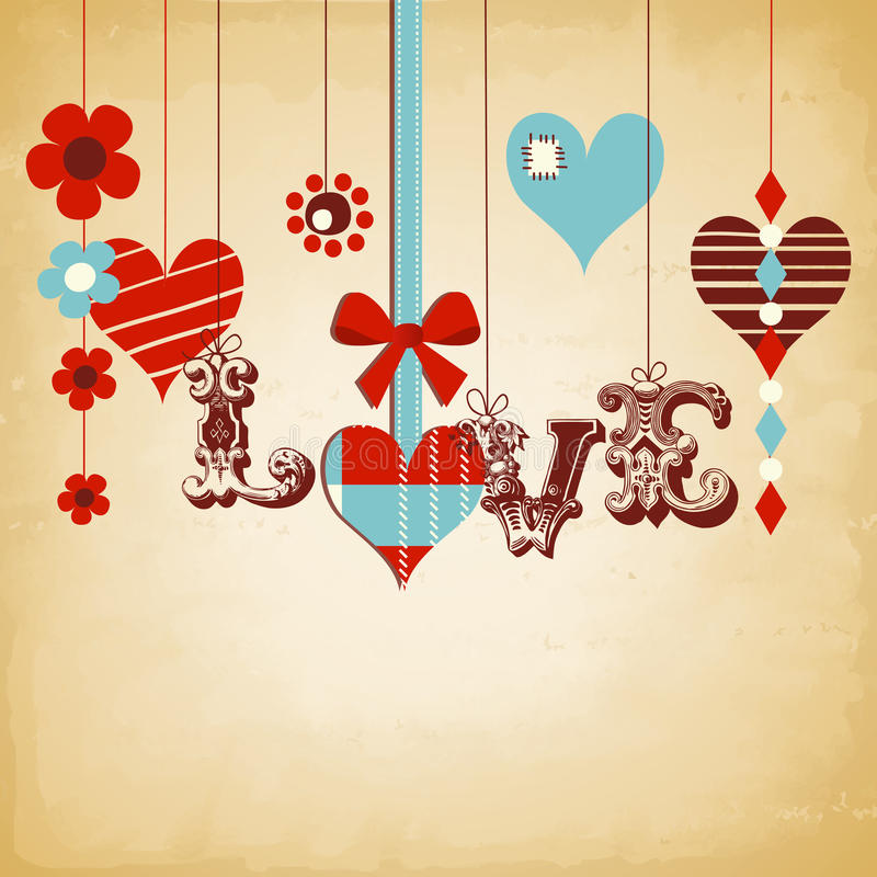 Download Retro love background stock vector. Illustration of festive - 22669521