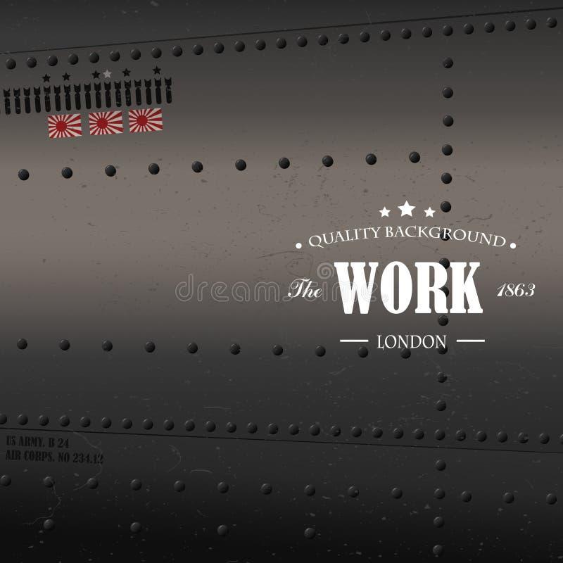 Retro luchtvaart royalty-vrije illustratie