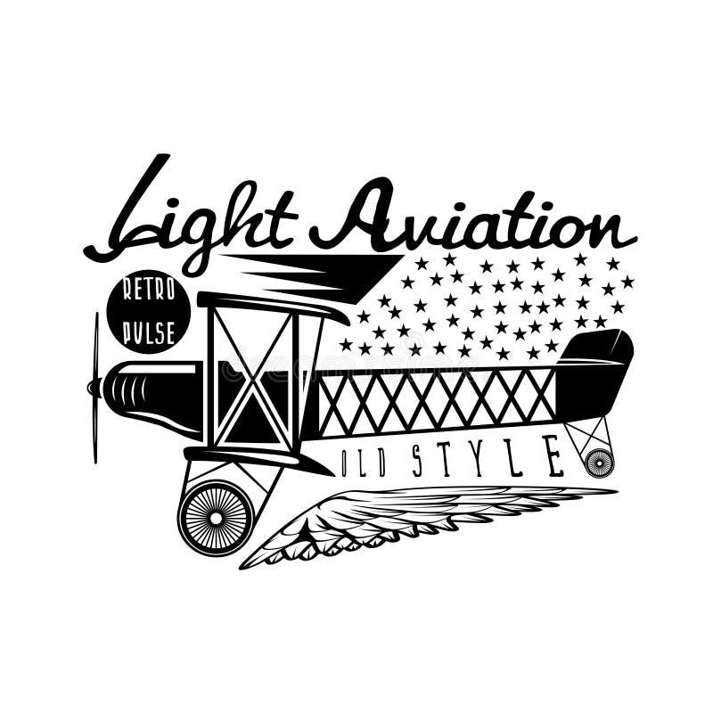 Retro luchtvaart vectorontwerp met vliegtuig vector illustratie