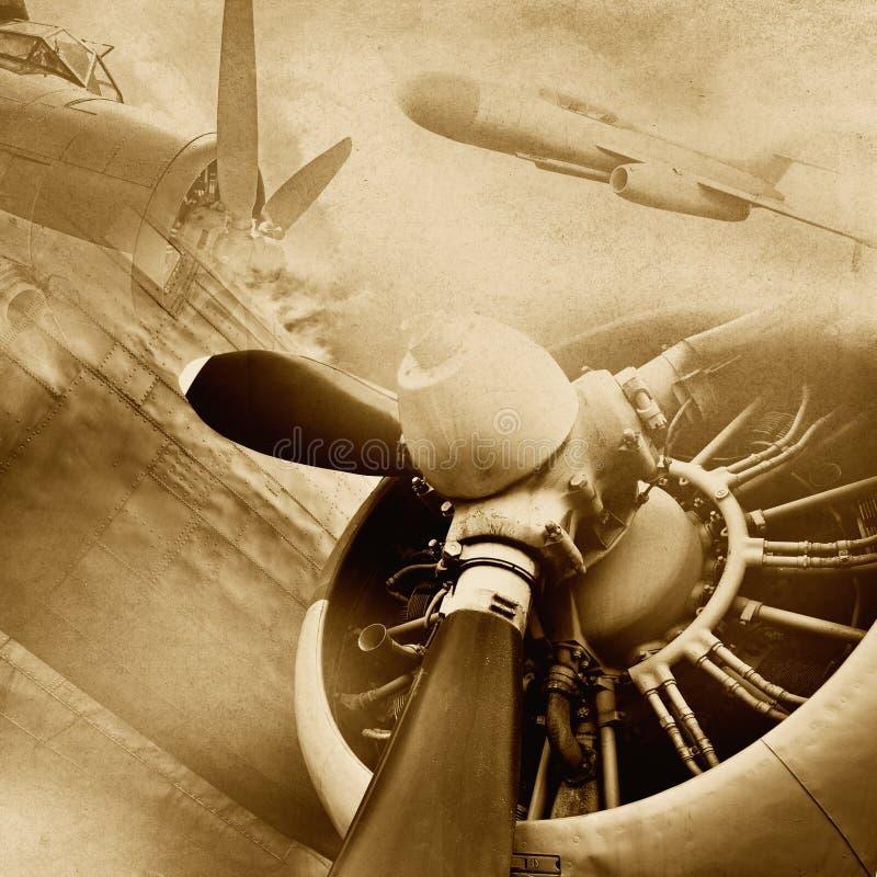 Retro luchtvaartachtergrond royalty-vrije stock fotografie