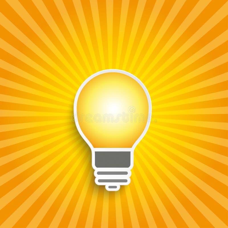 Retro lustro della lampadina royalty illustrazione gratis
