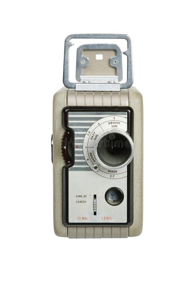 Retro macchina fotografica di 8mm fotografie stock