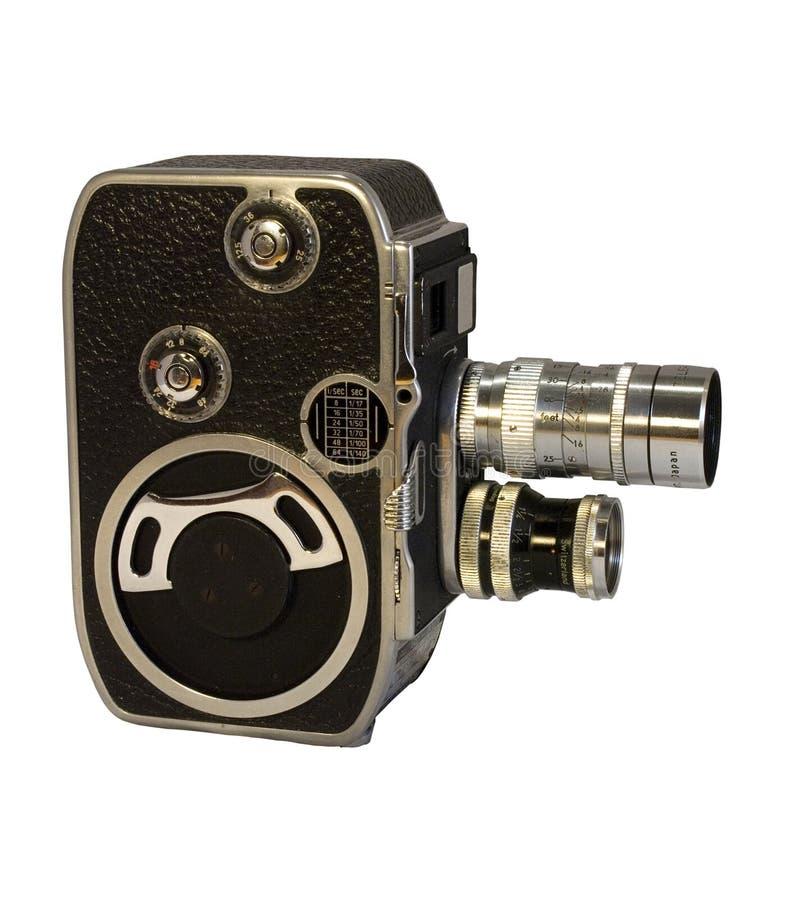 Retro macchina fotografica di cinematografia di 8mm con due obiettivi fotografie stock