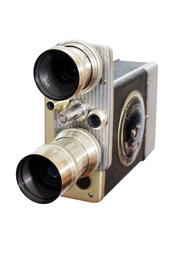 Retro macchina fotografica di film 8mm 16mm fotografie stock libere da diritti