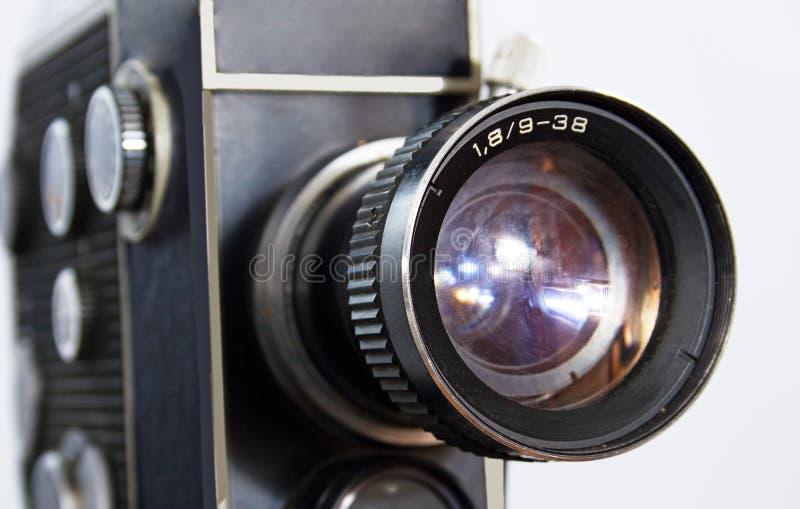 Retro macchina fotografica di film 8mm 16mm fotografie stock