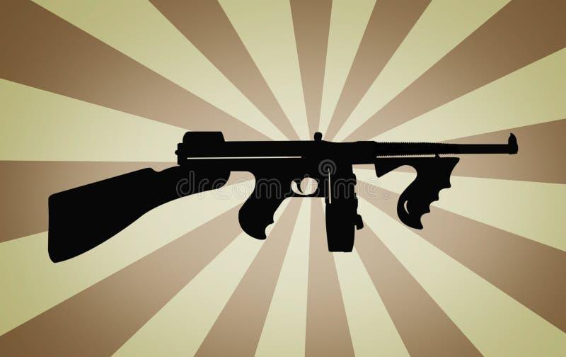 Retro machine gun stock photo