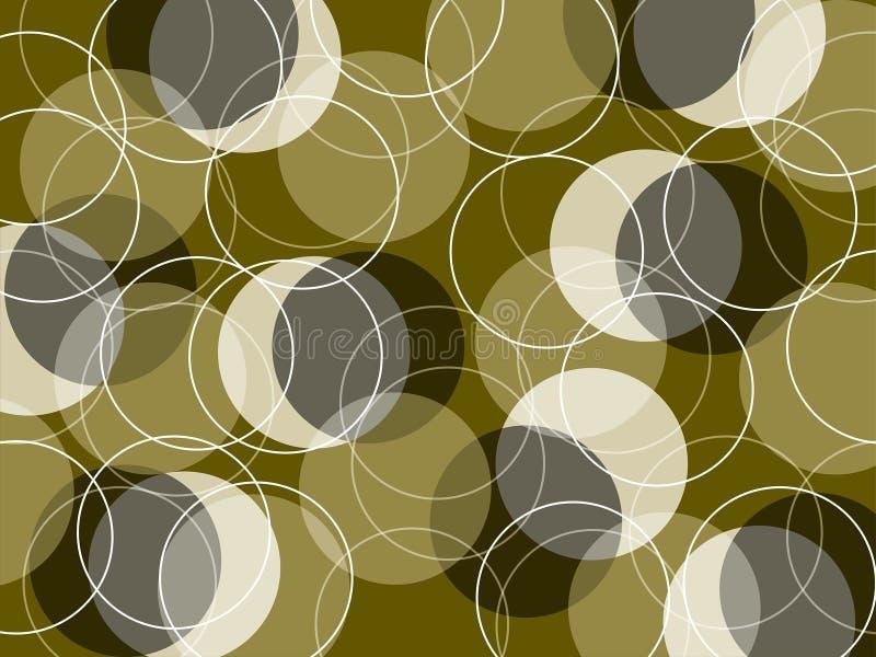 Retro magere gele ringen vector illustratie